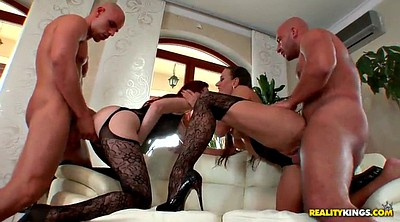 Doggystyle, High heels, Fingering pussy