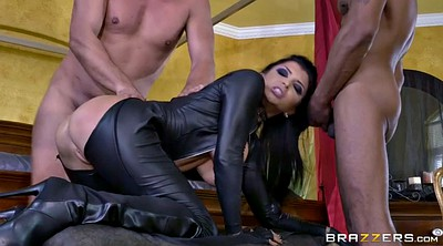 Romi rain, Gloves, Glove, Leather boot, Big tits gangbang, Assault