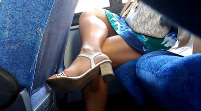 Bus, Candid foot, Candid feet