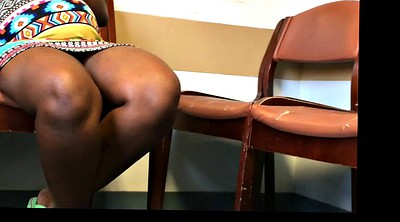 Upskirt, Flash, African, Pregnant black