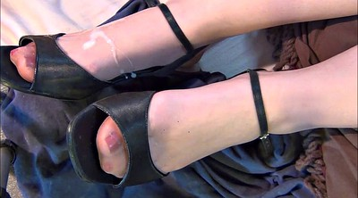 Shoes, Nylon feet, Nylon foot fetish, Nylon foot