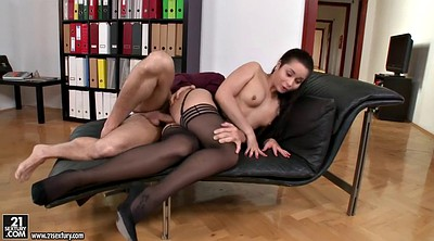 Office anal, Stockings anal