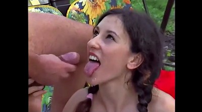 Tongue, Cum on tit