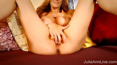 Julia ann, Red, High heels, Red milf, Ann