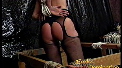 Big tits femdom, Tied, Really, Big tit tied, Hard spanking, Hard spank