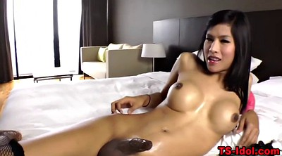 Asian shemale, Huge load