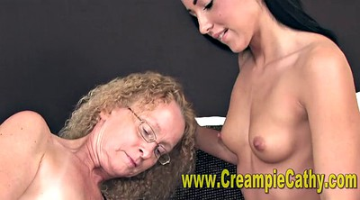 Young creampie, Amateur threesome creampie