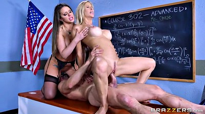 Alexis fawx, Brooklyn chase, Tommy gunn, Classroom, Teacher threesome