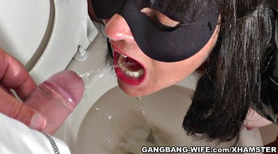 Piss drink, Drink, Creampie gangbang