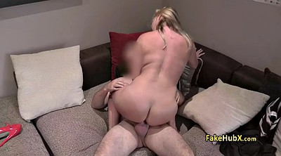 Fake agent, Pussy licking, Fat ass, British bbw
