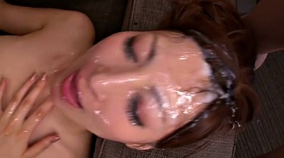 Japanese bukkake, Japanese facial