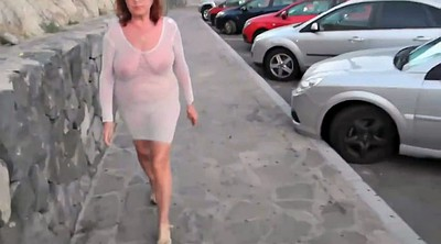 Granny solo, See through, Grandma, Solo mature, Sexy dress