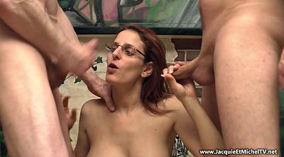 Glasses, Young anal, Threesome anal