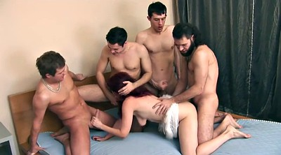 Russian gangbang, Mature russian