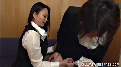 Pantyhose, Pantyhose handjob, Asian big tits