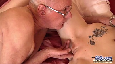 Grandpa, Old grandpa, Young girl, Pussy lick, Grandpa old