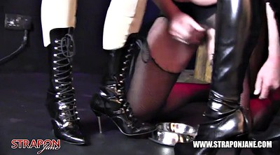 Strapon sissy, Femdom cumshot, Latex bdsm, Tags, Tag team, Sissy strapon