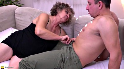 Grandma, Boy, Milf boy, Milf and young boy, Hairy granny, Hairy fuck
