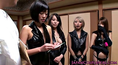 Japanese, Leather, Japanese handjob