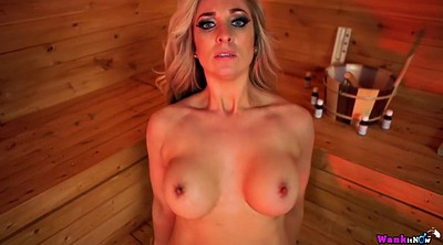 Sauna, Mom pov, Mom solo, Chubby solo, Fucking mom, Big tits mom