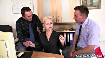 Interview, Granny mature, Young casting, Threesome mature, Job interview