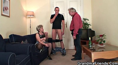 Old young, Grandmas, Granny threesome