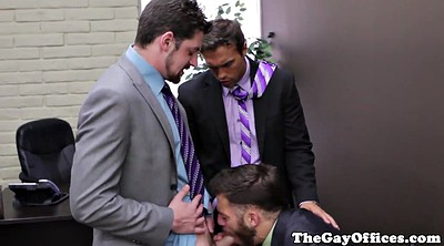 Gay, Office gangbang, Gay office