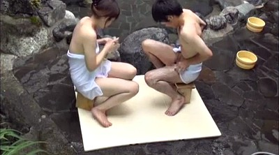 Sauna, Japanese teen, Tits, Spa, Japanese tit, Siblings