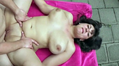 Outdoors, Outdoor creampie, Big tits fuck