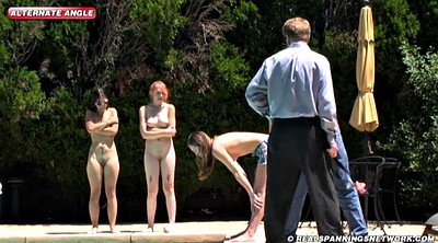 Outdoor, Spanked, Out, Punish girl, Spanking girl, Three