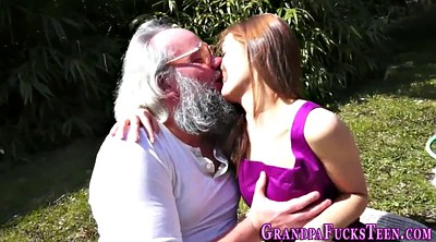 Outdoors, Creampie granny, Teen creampie