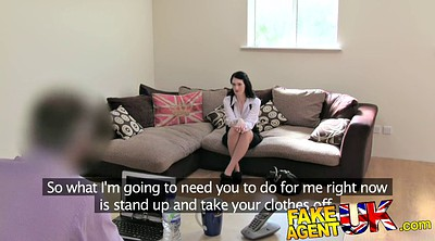 British, Fake agent, Teen slut, Fake tit, British teen