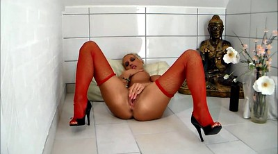 Red, Red stockings, Red milf, Hard sex