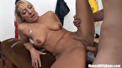 Mature cumshot, Dressing room