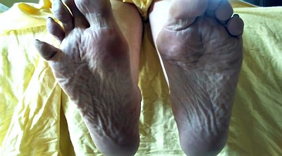 Mature foot, Sole, Foot fetish