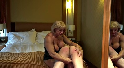 Spanking ass, Red milf, Spanked ass, Muscle femdom