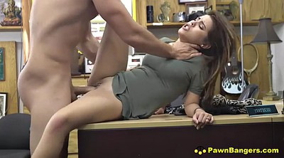Shop, Spreading pussy, Spreading, Shopping, Busty brunette