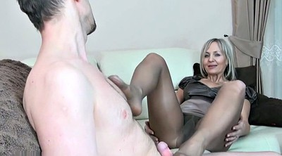 Nylon feet, Nylon footjob, Pantyhose footjob, Pantyhose feet, Mature feet, Nylon mature