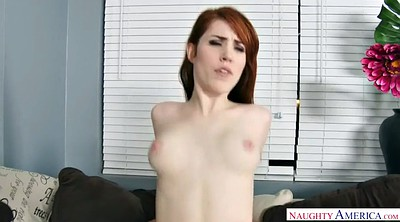 Big cock, Pale, Hairy redhead, Riding cock