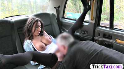 Taxi, Huge tits, Huge cock, In public