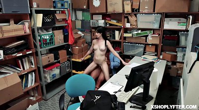 Police, Office, Tight pussy fuck