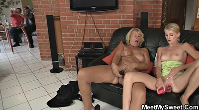 Old and young, Mom teach sex
