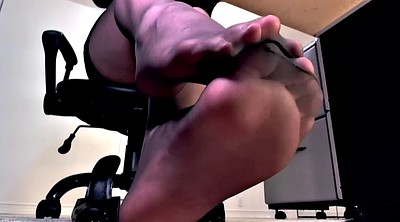 Footjob pantyhose
