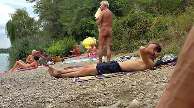 Beach, Old grandpa, Nudist