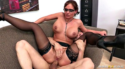 Phoenix marie, Office stockings, Big tit threesome