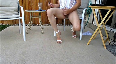 Cd, Gay feet, Outside, White heels