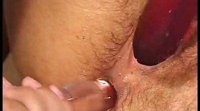 Chubby anal, Dripping