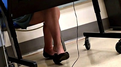 Teacher, Teacher feet, Shoeplay, Flat, Feet candid