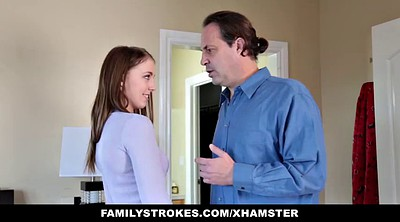 Blackmail, Step dad, Dad daughter, Step daughter, Blackmailed, Familystrokes