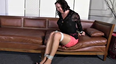 Hogtied, Two girls, Mature bondage